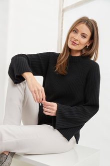 Simply You Cashmere High Neck Sweater