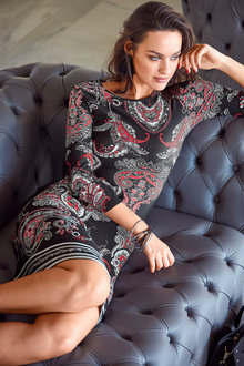 Urban Paisley Print Dress