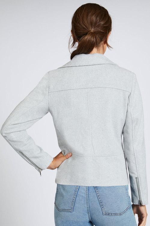 Emerge Wool Blend Biker Jacket