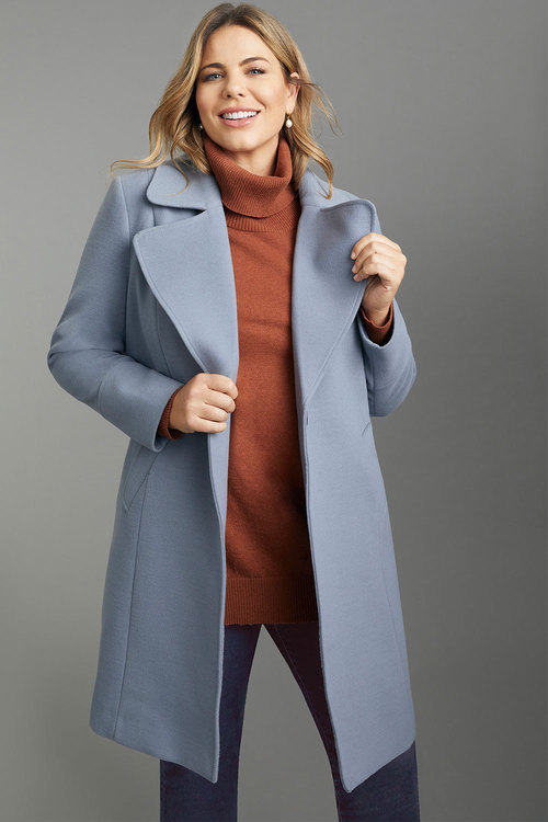 Sara Button Detail Coat