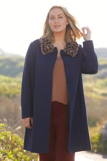Sara Fur Collar Jacket - 248845