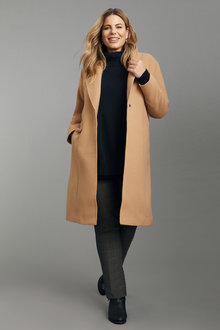 Plus Size - Sara Longline Coat