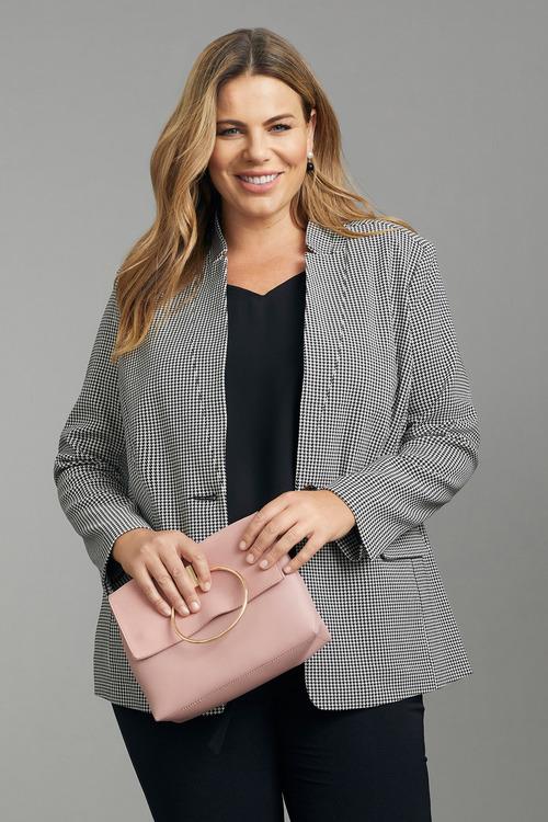 Plus Size - Sara Houndstooth Jacket