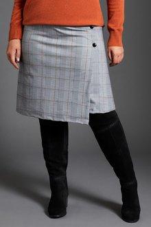 Sara Ponte Check Skirt - 248856