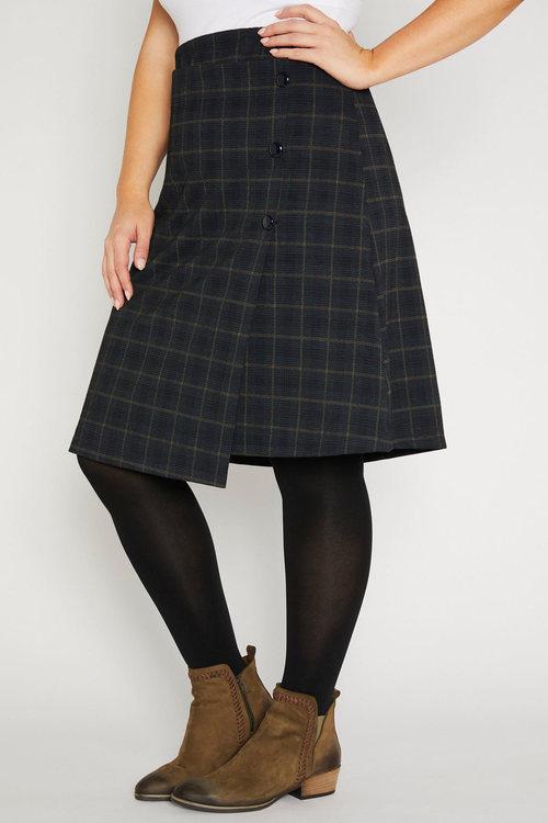 Sara Ponte Check Skirt