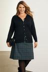 Plus Size - Sara Ponte Check Skirt