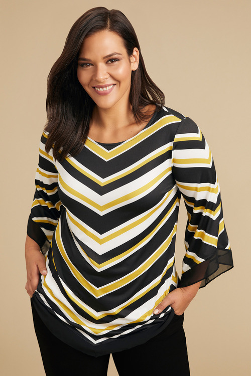 Plus Size - Sara Drape Sleeve Top