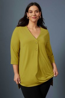 Sara Two Button Knit Top - 248863