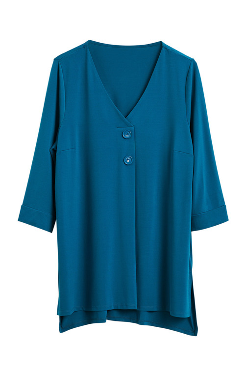 Sara Two Button Knit Top