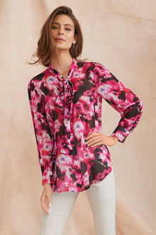 Simply You Silk Pussy Bow Blouse - 248873