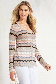 Euro Edit Lurex Knit Top - 248882
