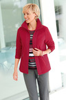 Euro Edit Cross Stitch Fleece Jacket