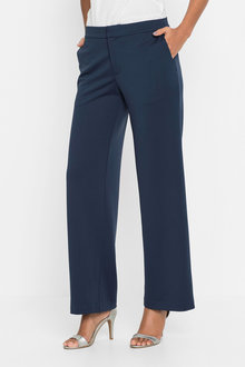 Euro Edit Straight Leg Knit Trousers - 248885