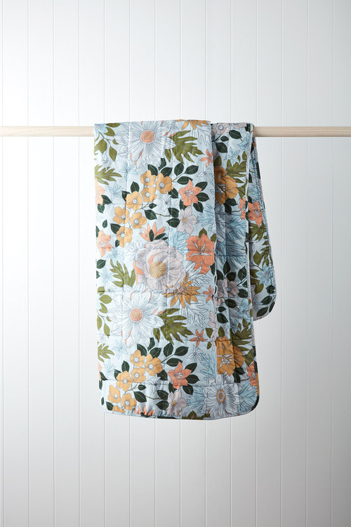 Willow Quilted Velvet Throw