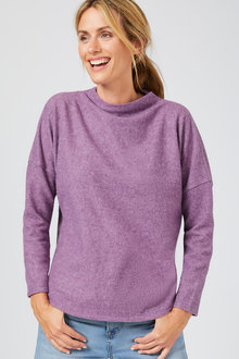 Capture Soft Touch Funnel Neck Knot Top - 248898