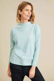 Capture Soft Touch Funnel Neck Knot Top