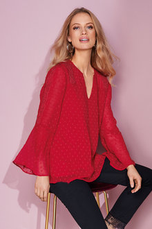 European Collection Lace Trim Dobby Top - 248915