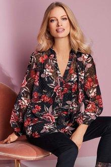 European Collection Floral Print Shirt - 248916