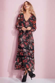European Collection Floral Print Dobby Dress - 248919