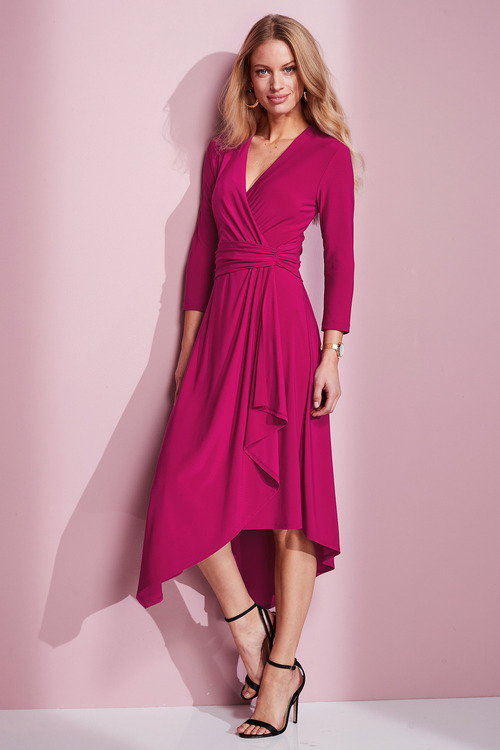 European Collection Jersey Asymmetric Dress