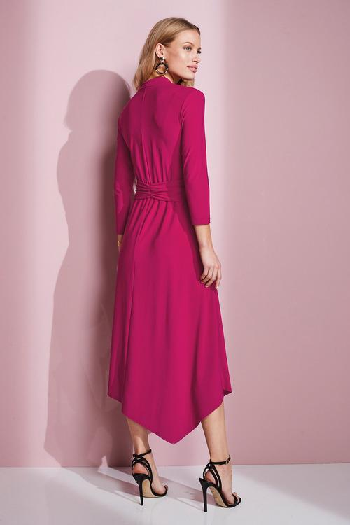 European Collection Jersey Asymmetric Dress
