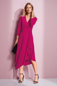 European Collection Jersey Asymmetric Dress - 248938