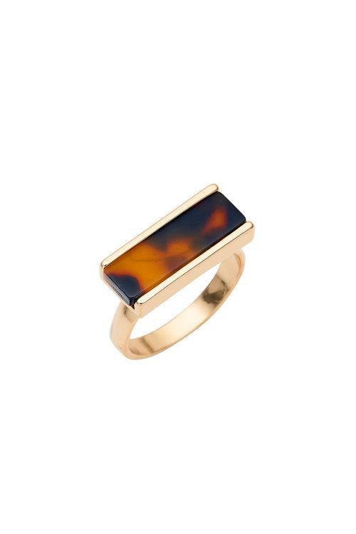 Amber Rose Tort Regtangle Ring