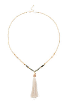 Amber Rose Semi Precious Tassel Necklace - 248960