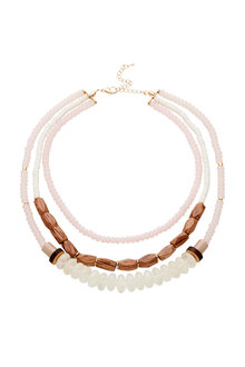 Amber Rose Mixed Materials Statement Necklace - 248961