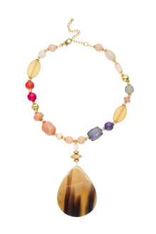 Amber Rose Multi Bead Necklace - 248971