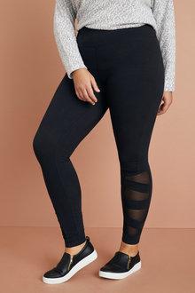 Plus Size - Sara Active Mesh Leggings