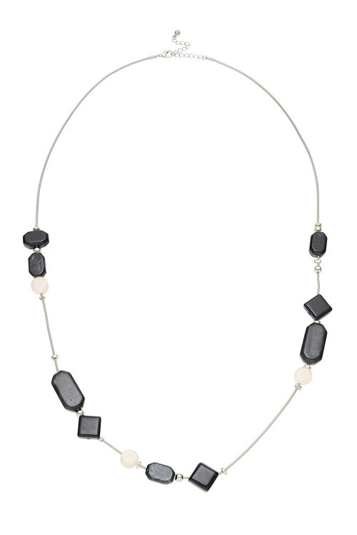 Amber Rose Black Cube Necklace