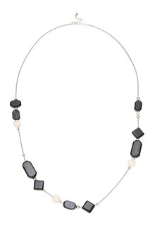 Amber Rose Black Cube Necklace - 249006