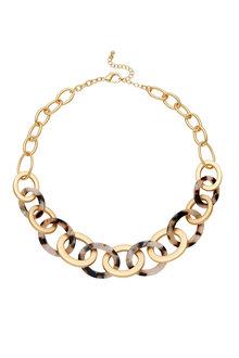 Amber Rose Tortoiseshell Link Necklace