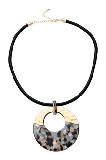 Amber Rose Tortoiseshell Pendant
