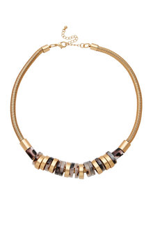Amber Rose Tortoiseshell Multi Link Necklace
