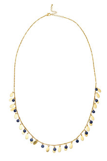 Amber Rose Multi Disc Enamel Rope Necklace - 249021