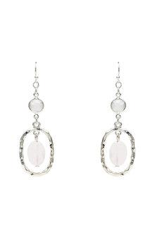 Amber Rose Semi Precious Halo Earrings