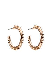 Amber Rose 30mm Studded Hoop Earrings