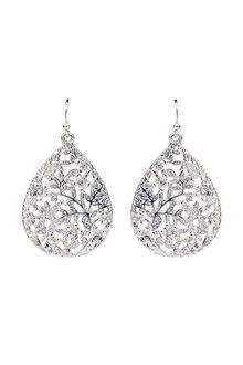 Amber Rose Bouquet Teardrop Earrings - 249037