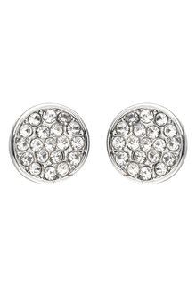 Amber Rose Pave Stud Earrings