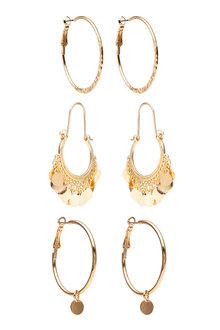 Amber Rose Multi Hoop Earring Set