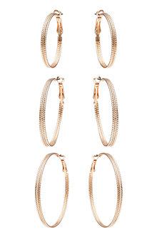 Amber Rose Static Hoop Earring Set - 249049