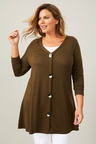Plus Size - Sara Button Front Top