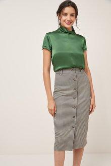 Next Button Pencil Skirt