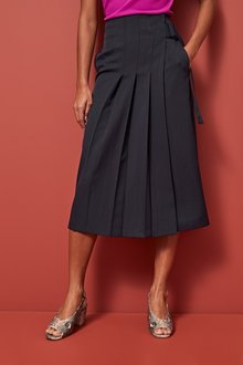 Next Side Pleat Midi Skirt