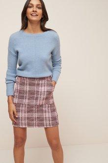 Next Check Boucle Skirt