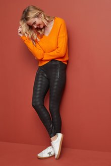 Next Zip Detail Ponte Leggings