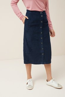 Next Cord Midi Skirt