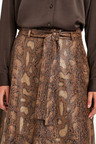 Next Belted Faux Leather Skirt